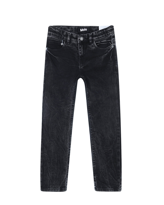Regular fit джинсы MoloДжинсы<br>Regular fit джинсы Molo из прочного черного денима. Модель «5 карманов» дополнена внутренней эластичной лентой для идеальной посадки по фигуре. Сзади расположены кожаный лейбл и вышитая в тон надпись «A part of it all». Изделие отлично подходит для создания как повседневных, так и дерзких гранжевых образов, благодаря эффекту сильных потертостей.