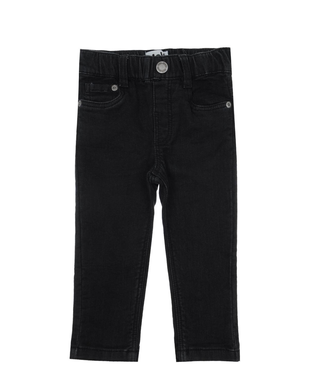 Брюки джинсовые MOLOДжинсы<br>Черные хлопковые джинсы MOLO. Верх с 5-ю карманами. Лаконичная базовая модель с высокой посадкой и удобным поясом на резинке.