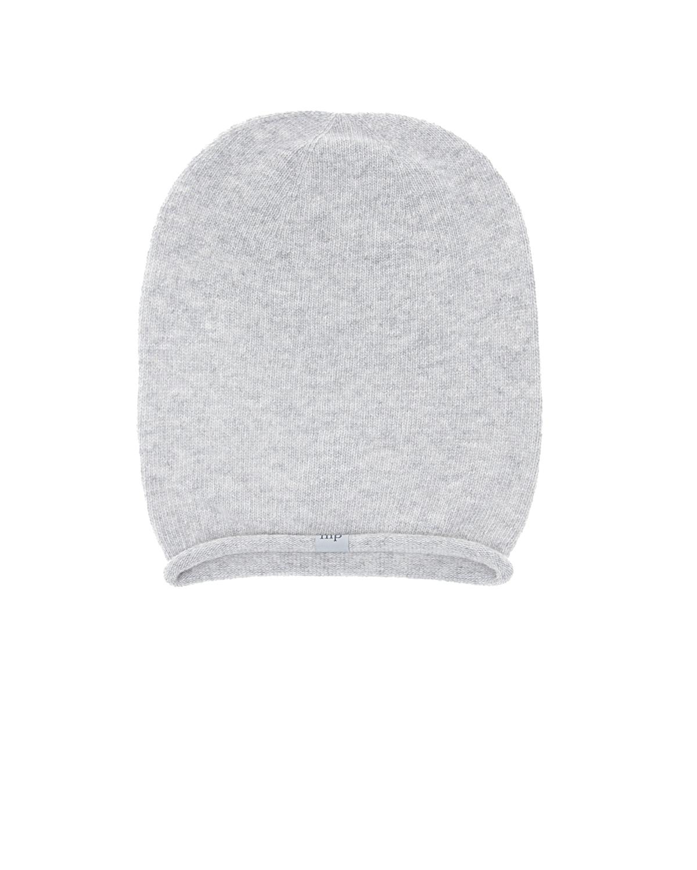 Шапка из шерсти и кашемираШапки<br>Серая шапка MP. Удлиненная модель из смесовой шерсти и кашемира.