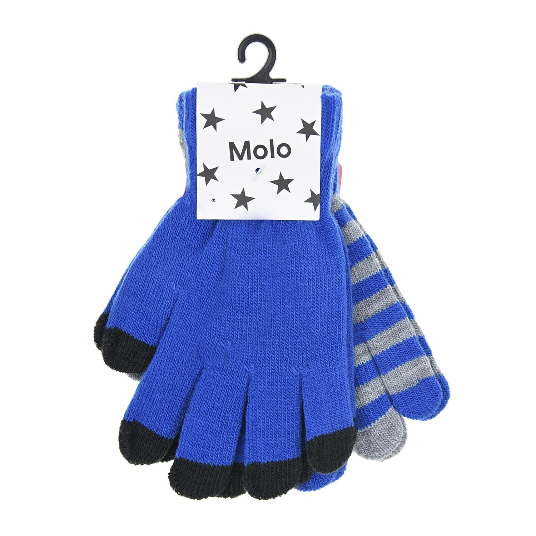 Комплект из двух перчаток MoloВарежки и перчатки<br>Две пары перчаток  Molo отлично дополнят базовый гардероб. Изделия связаны из мягкой пряжи. Манжеты, выполненные в технике английской резинки, деликатно облегают запястье, плотно фиксируя вещи на руке.