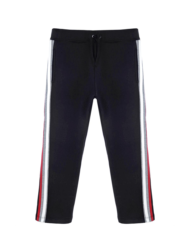 Купить со скидкой Черные спортивные брюки с лампасами. Paolo Pecora