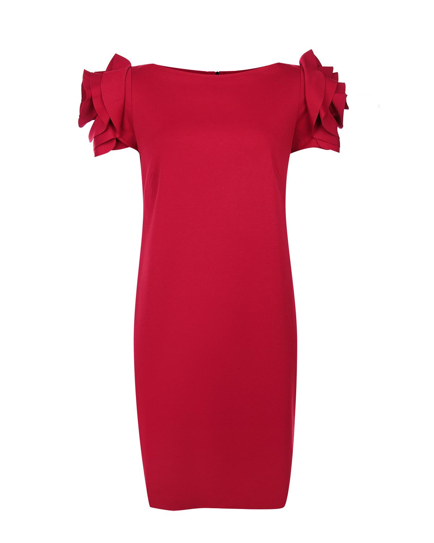 Платье для беременных Pietro Brunelli с декором роза на плечахПлатья<br>Платье для беременных Pietro Brunelli облегающего силуэта, с коротким рукавом и декором quot;розаquot; на плечах.