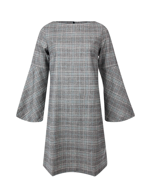 Купить со скидкой Платье Pietro Brunelli из тонкой шерсти в клетку