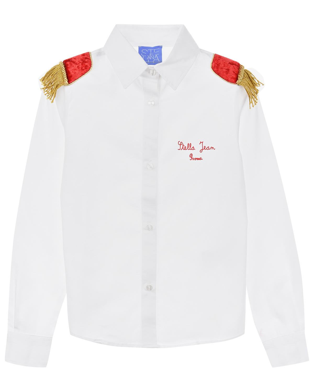 Купить со скидкой Рубашка из хлопка с декором