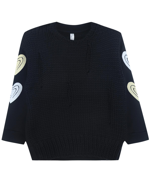 Купить со скидкой Вязаный свитер с рваным эффектом и принтом