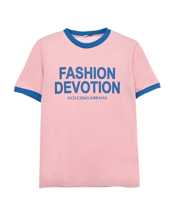 Хлопковая футболка с принтом Dolce&Gabbana