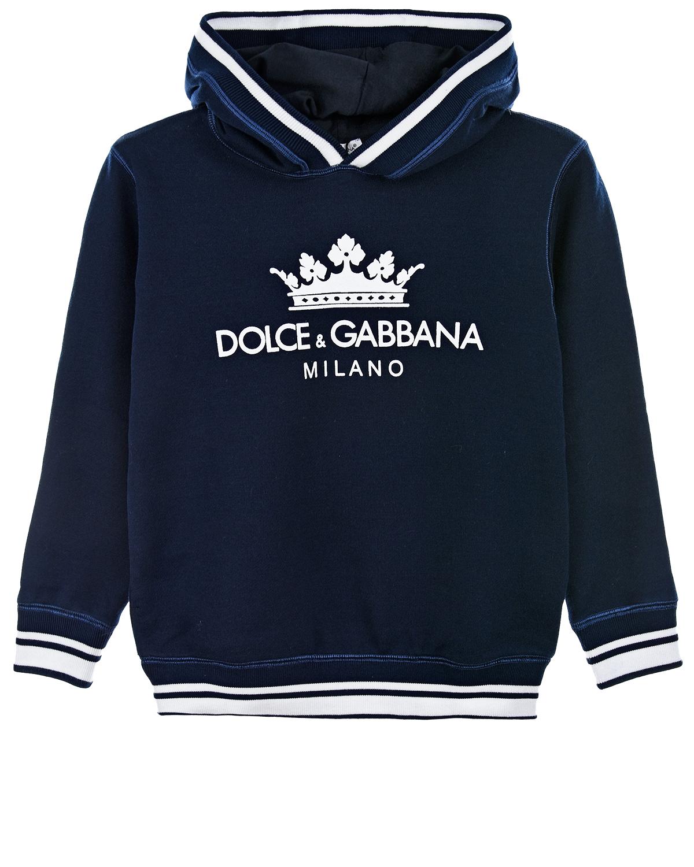 Купить Толстовка с капюшоном и отделкой в полоску, Dolce&Gabbana
