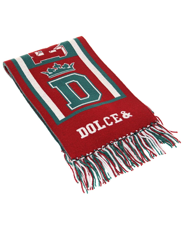 Трехцветный шерстяной шарф Dolce&Gabbana