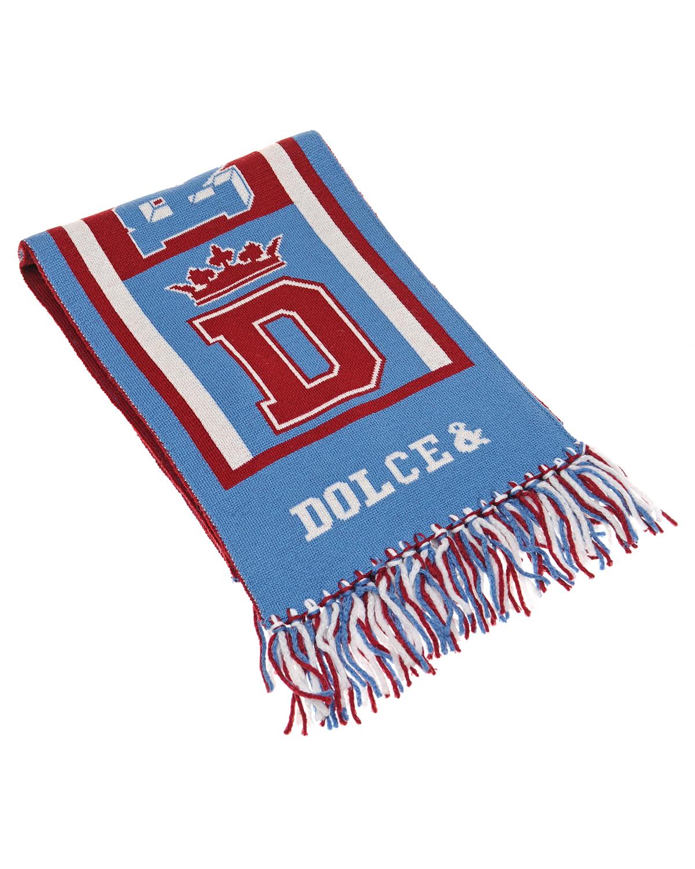 Шерстяной шарф с бахромой Dolce&Gabbana
