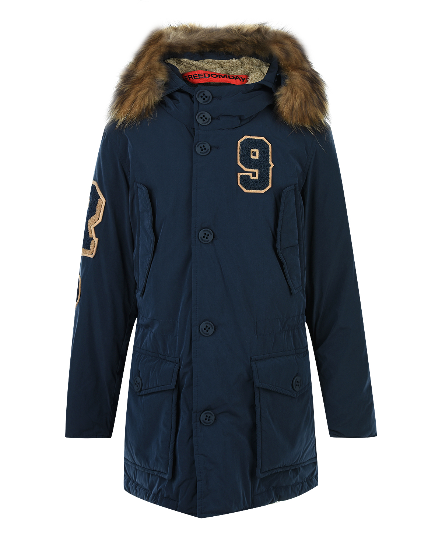 Куртка-парка с утеплителем и асимметричным подолом Freedomday детская фото