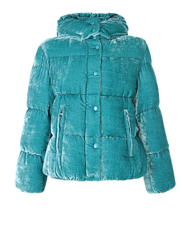 Велюровая куртка с капюшоном Moncler детская фото