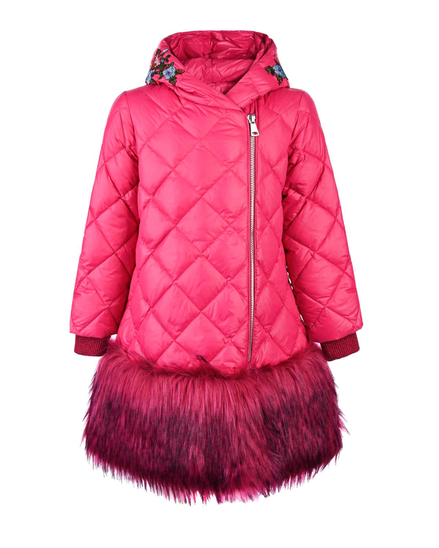 Купить со скидкой Пальто с капюшоном и меховой отделкой Ermanno Scervino