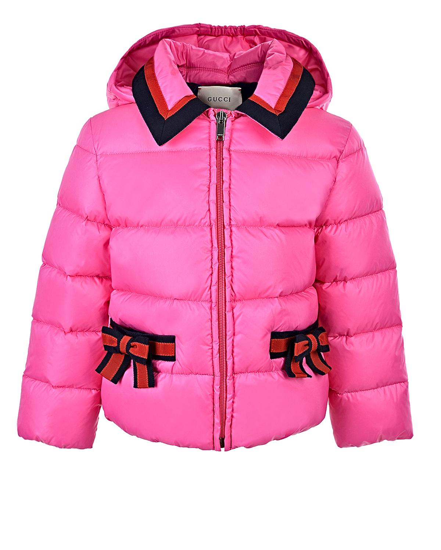 Купить Стеганая куртка с бантами, GUCCI