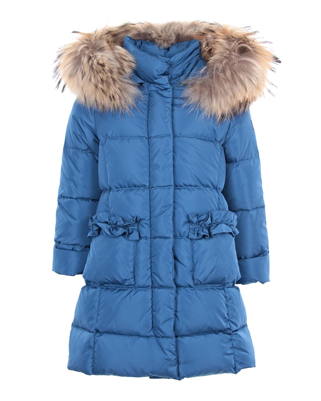 Приталенное пальто с меховой отделкой IL Gufo