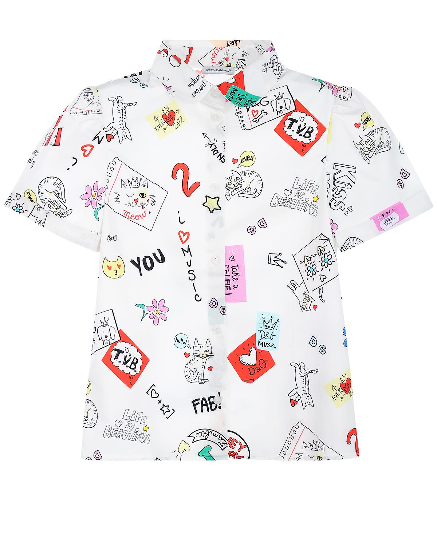 Купить Рубашка с принтом Dolce&Gabbana