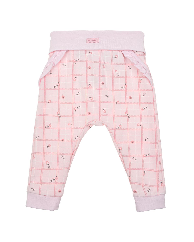 Купить Розовые брюки с принтом и оборками Sanetta fiftyseven