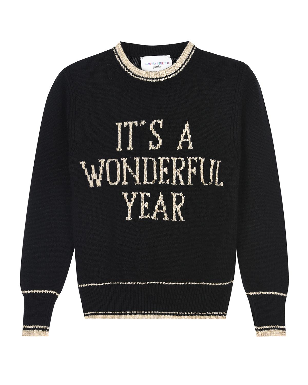 Купить Черный демпер its a wonderful year из шерсти и кашемира Alberta Ferretti