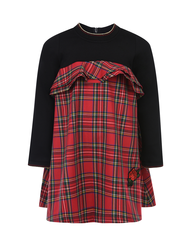 Купить Платье в клетку с вышивкой Aletta