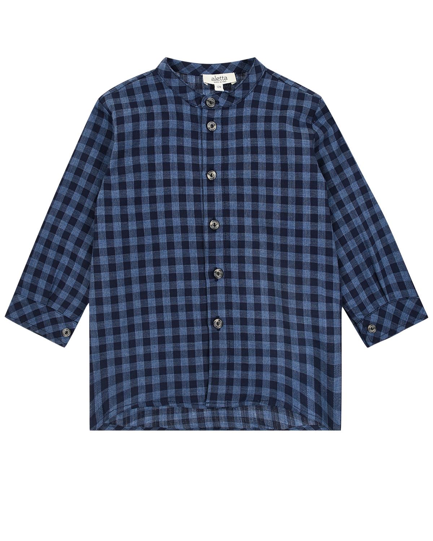 Купить Синяя рубашка в клетку Aletta