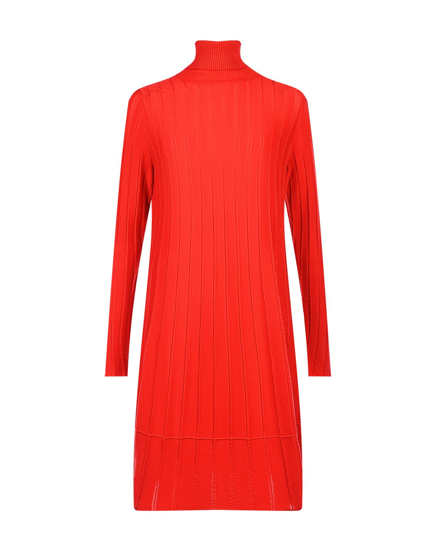 Красное платье из шерсти мериноса Allude фото