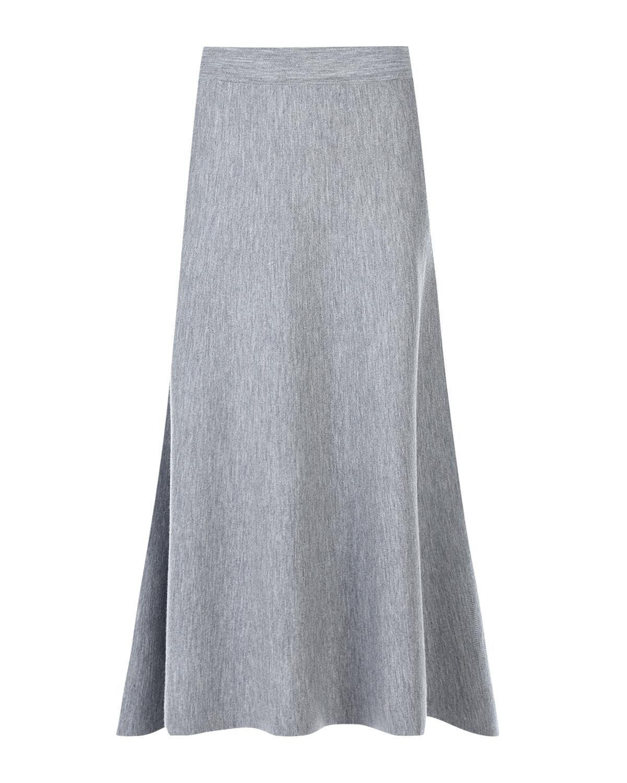 Купить Серая юбка-трапеция из шерсти Allude, Серый, 100%шерсть