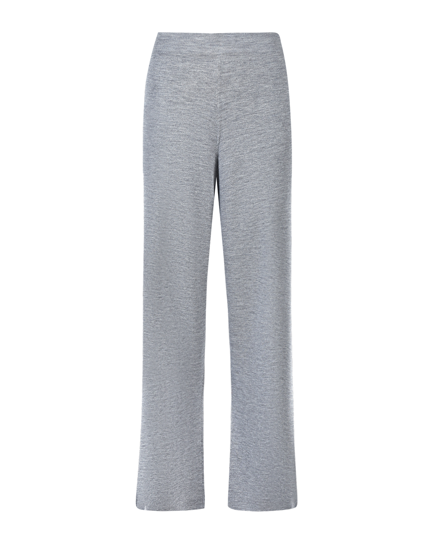 Серые брюки из шерсти мериносов Allude фото