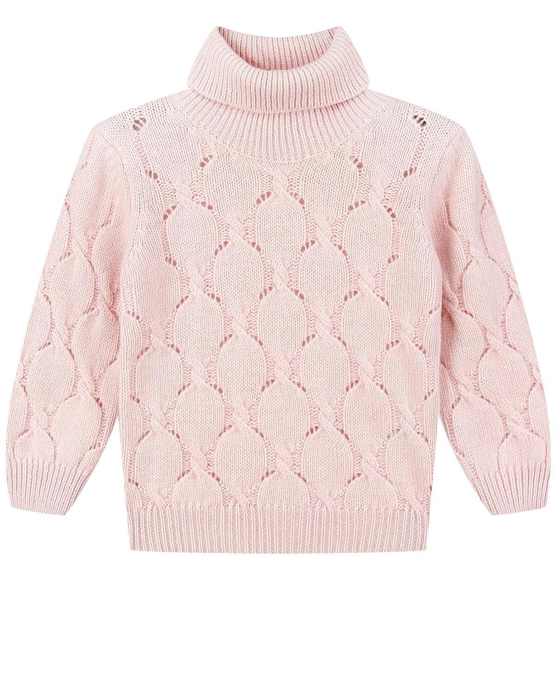 Купить Розовый свитер из шерсти и кашемира Arc-en-ciel детский, Нет цвета, 90%шерсть+10%кашемир