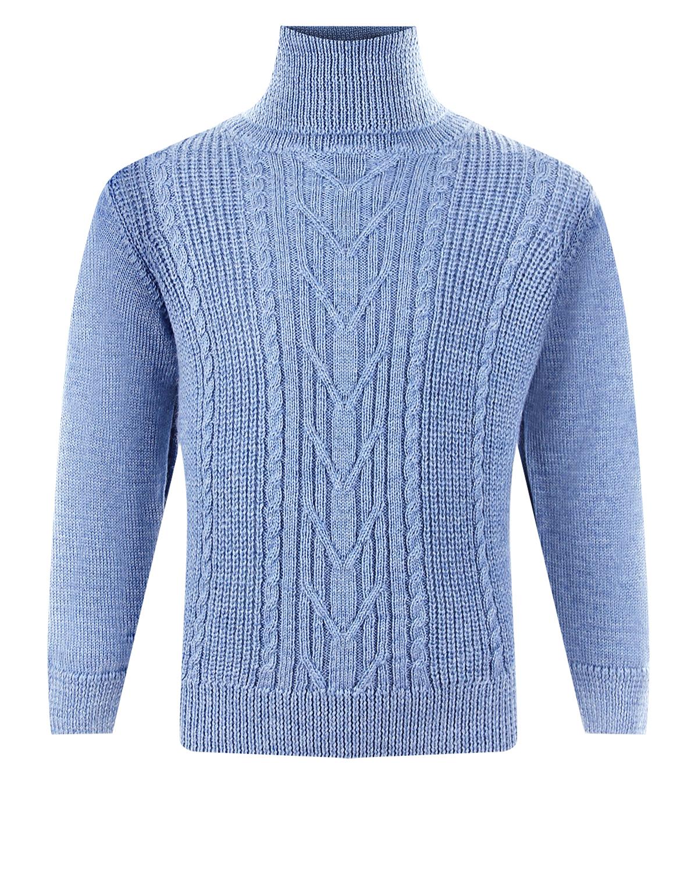 Голубой свитер из шерсти Arc-en-ciel детский фото