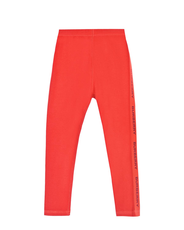 Купить Оранжевые леггинсы с логотипом Burberry детские, Красный, 90%хлопок+10%эластан