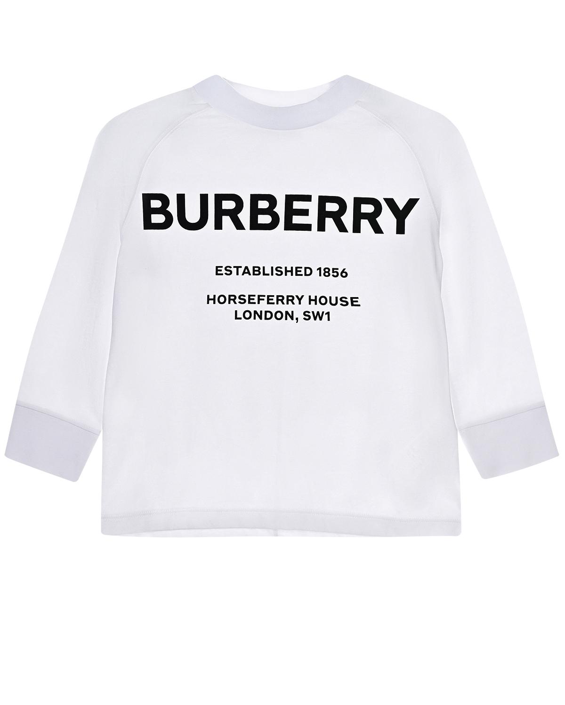 Белая толстовка с принтом Burberry London детская фото