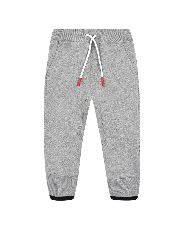 Купить Серые споритивные брюки с красной нашивкой Burberry детские, Серый, 75%хлопок+25%полиэстер, 100%хлопок, 40%полиэстер+30%шерсть+30%акрил