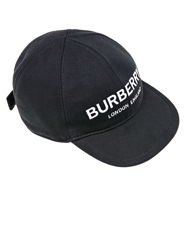 Черная бейсболка с вышивкой London England Burberry детская фото
