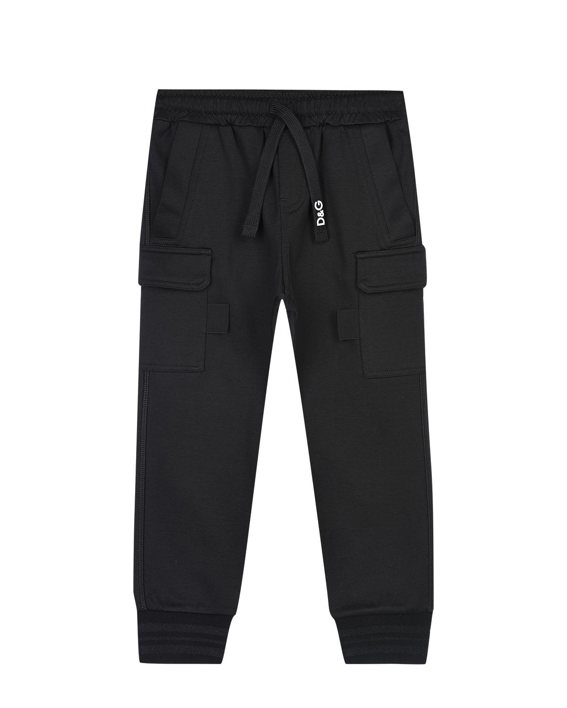 Трикотажные брюки с карманами карго Dolce&Gabbana детские фото