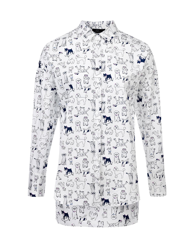 Купить Рубашка для беременных с принтом собаки Dan Maralex, Нет цвета, 100%хлопок