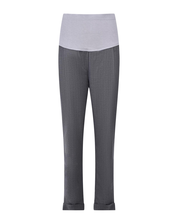 Классические серые брюки для беременных Dan Maralex цвет нет цвета