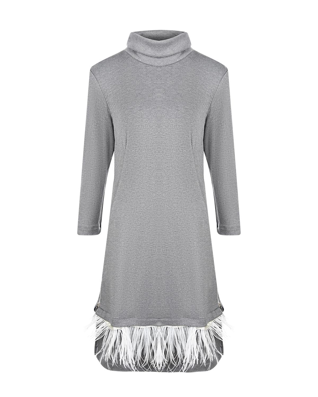 Платье для беременых из серого футера Dan Maralex фото