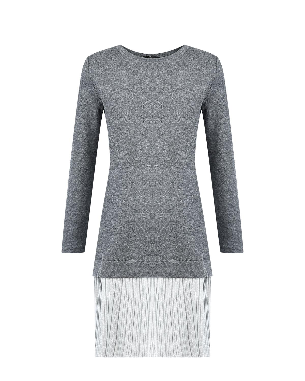 Купить Трикотажное платье для беременных с плиссированной юбкой Dan Maralex, Нет цвета, 95%хлопок+5%спандекс