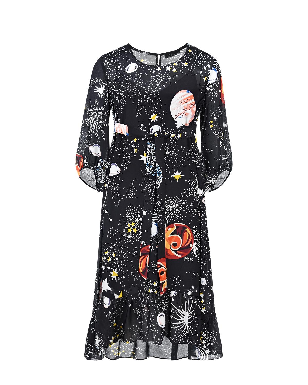 Купить Платье для беременных с принтом космос Dan Maralex, Черный, 100%шелк