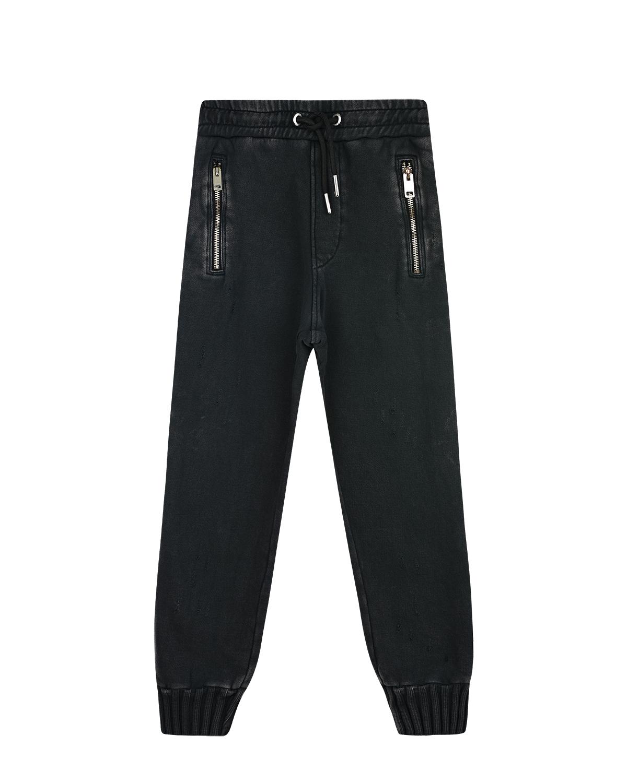 Купить Спортивные брюки из трикотажа Diesel детские, Черный, 100%хлопок