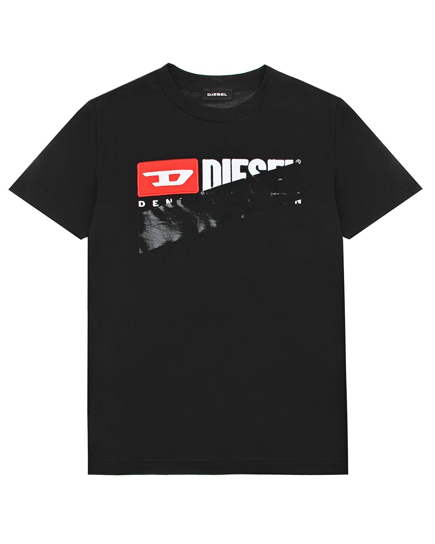 Купить Черная футболка с фломастером Diesel