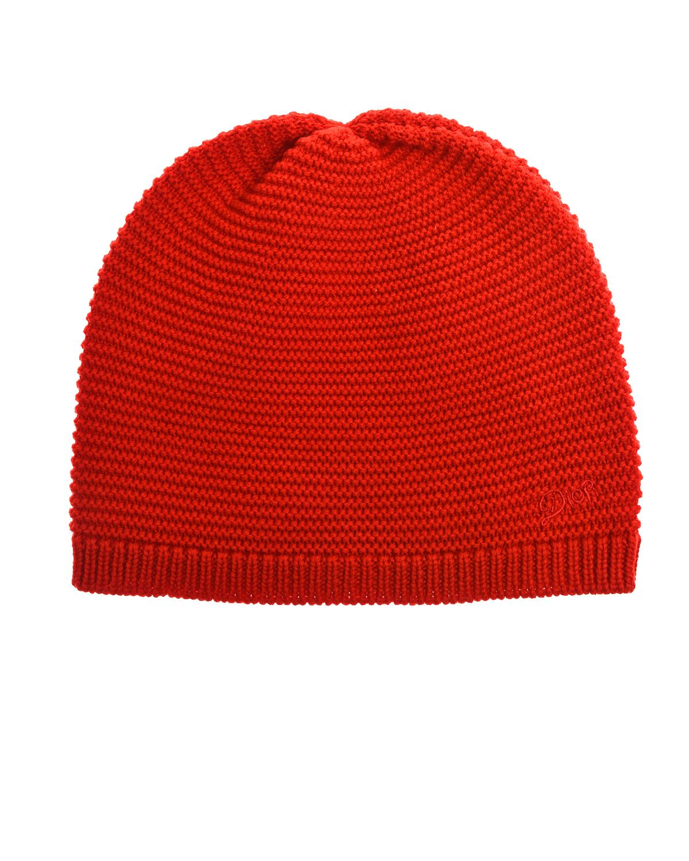 Купить Красная шапка из шерсти Dior детская, Красный, 100%шерсть