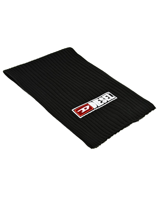 Черный шарф с логотипом Diesel детский фото