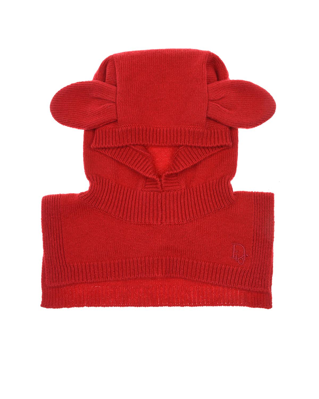 Купить Шапка-шарф из шерсти и кашемира Dior детская, Красный, 91%шерсть+9%кашемир