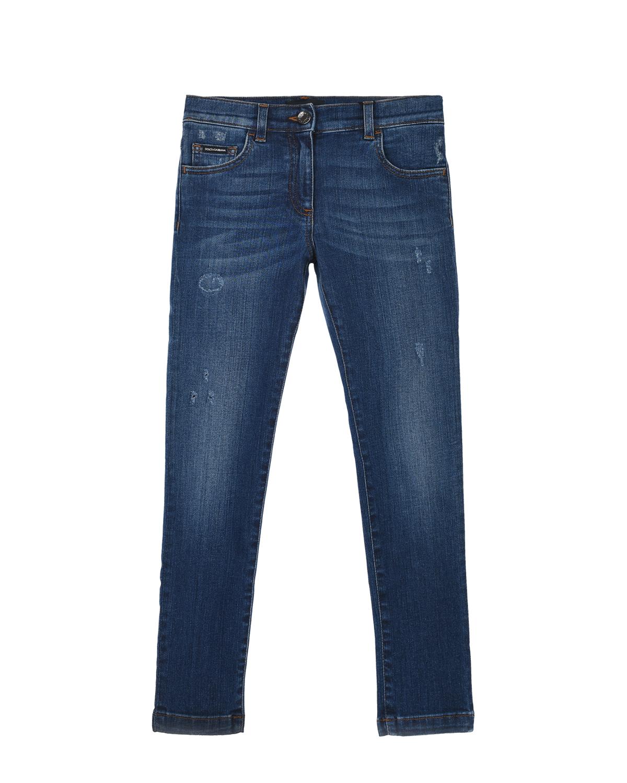 Синие джинсы с разрезами Dolce&Gabbana детские фото