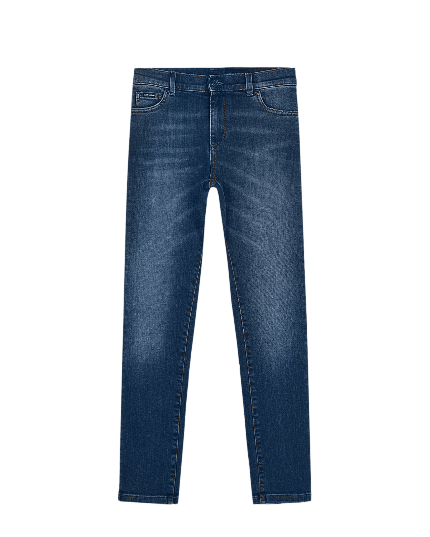 Синие джинсы SLIM Dolce&Gabbana детские фото