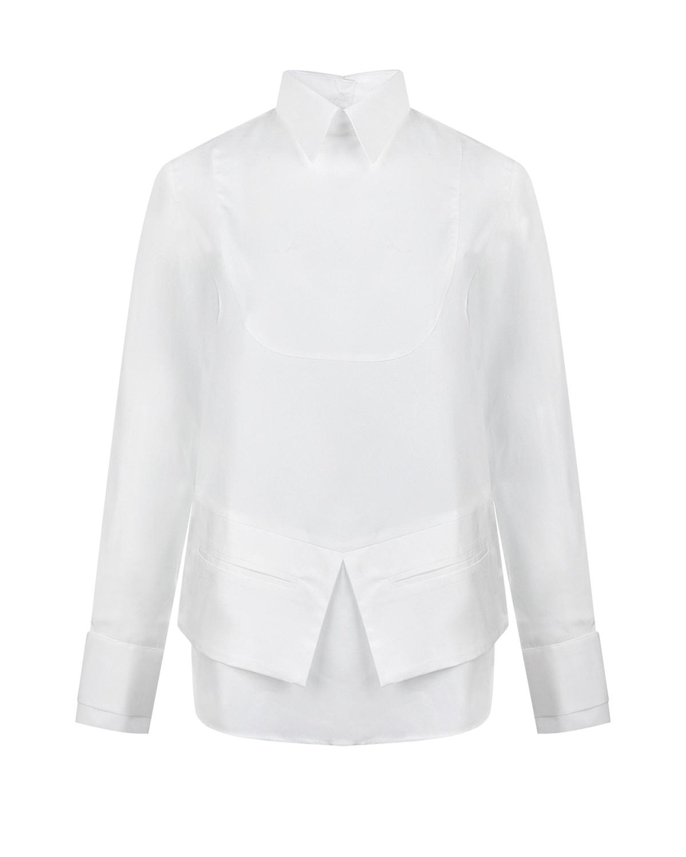 Купить Белая рубашка с баской Each Other, Белый, 100%хлопок