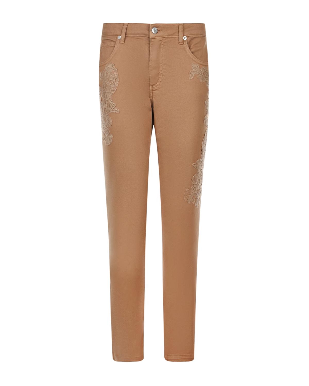 Бежевые джинсы с кружевными вставками Ermanno Ermanno Scervino фото