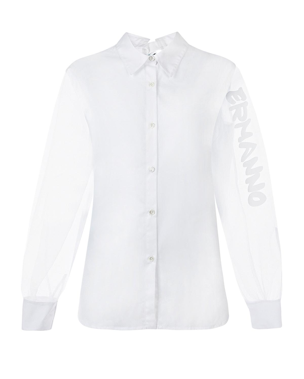 Белая блуза из хлопка Ermanno Ermanno Scervino фото