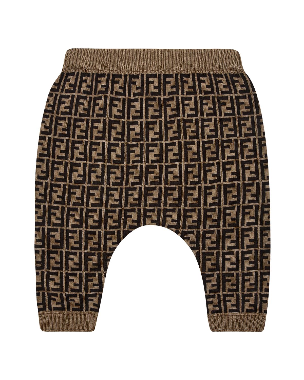 Купить Коричневые брюки с добавлением кашемира Fendi детские, Коричневый, 84%хлопок+15%кашемир+1%шерсть