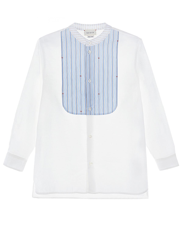 Купить Рубашка GUCCI детская, Белый, 100%хлопок